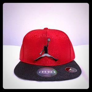 Nike Air Jordan Red Black SnapBack Cap Hat Youth